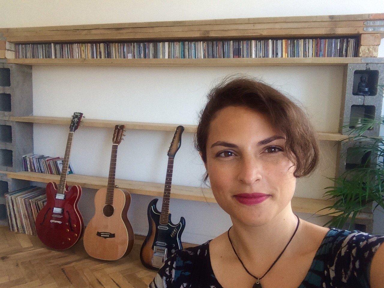 Danni Nicholls in Studio one