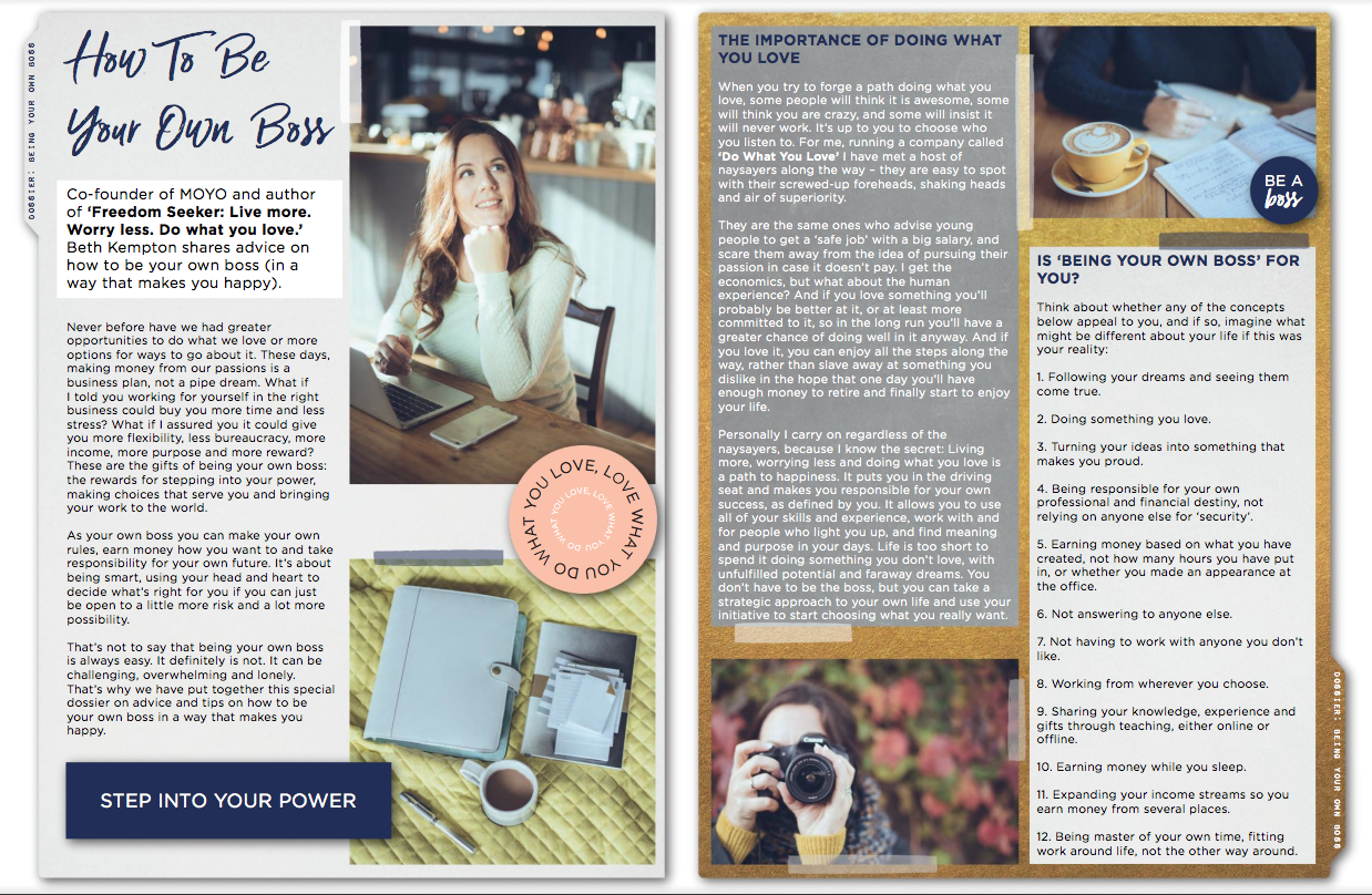 MOYO issue 10 How to be your own boss BK