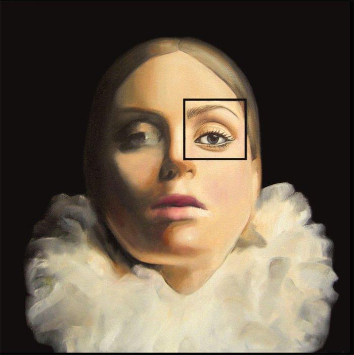 'Maria' Oil on Canvas, 40 x40 cm, Madeleine Casey