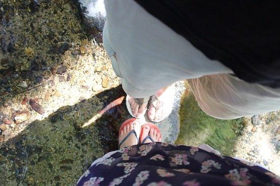 Paul & beth - feet in Japan