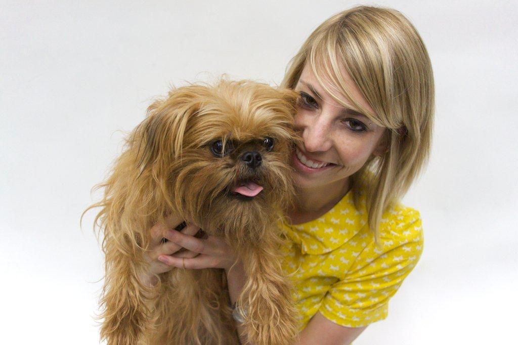Sarah Joseph with dog